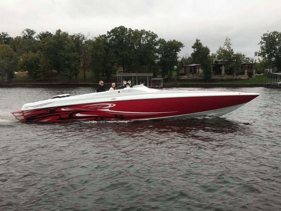 Hytech boat at Lake of the Ozarks